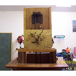 how to mount a mechanical clock movement