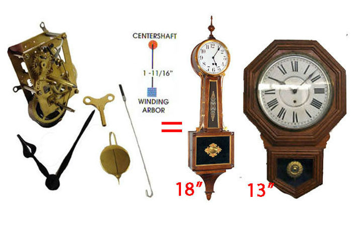 Antique clock movement replacements clockworks antique clock repair ccuart Choice Image