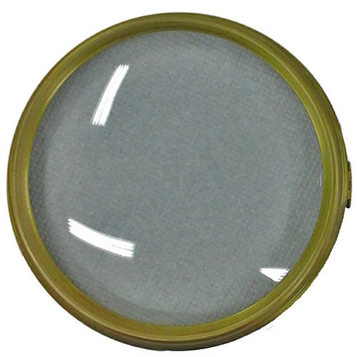 Mantel clock glass bezel