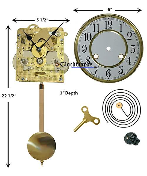 Wall Or Mantle Clock Kit Wmkit2 Clockworks Clockworks
