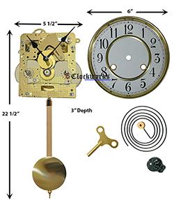 Spring Driven Clock Kit