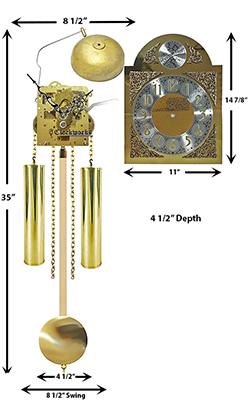 Grandmother Clock Movement Kit