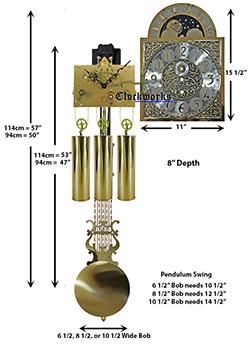 Triple Chime Clock Movement Kit