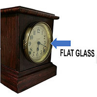 Flat Clock Parts Glass