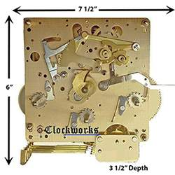 1050 1051 series hermle clock movements clockworks rh clockworks com Clock Movement Diagram Franz Hermle Grandfather Clock Manual