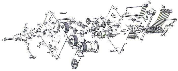 1161 Series Hermle Clock Movements Clockworks