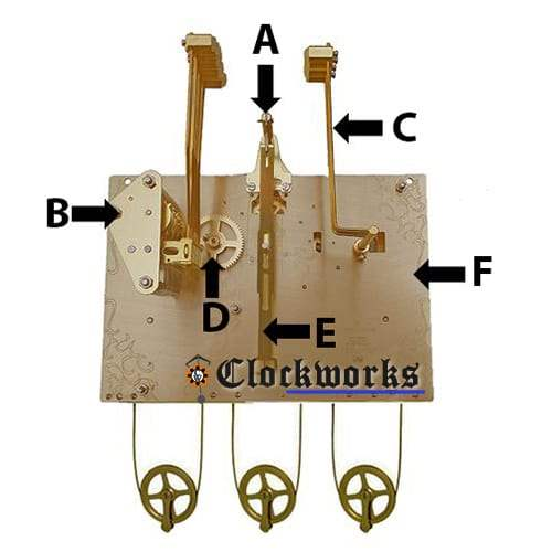 Hermle Clock Movement Parts 1161 Clockworks