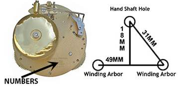 130 and 131 series hermle clock movement diagram