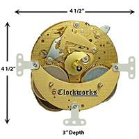 130-070 Hermle Clock Movement