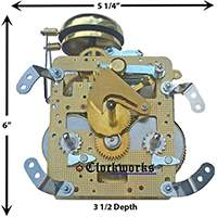 141 and 140 series Hermle clock movements