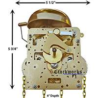 241 series Hermle clock movements