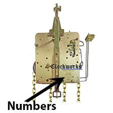 261 series Hermle clock movements
