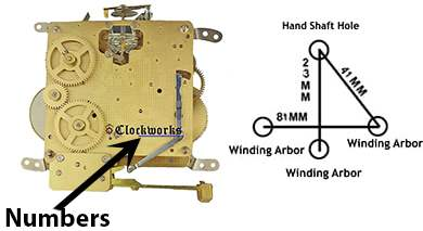 hermle wall clock kit diagram