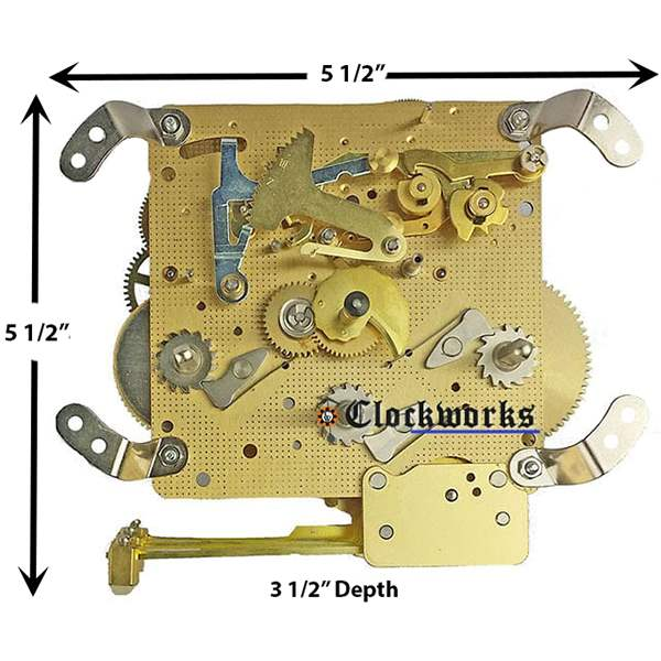 340 341 series hermle clock movements clockworks rh clockworks com hermle clock movement service manual Franz Hermle Grandfather Clock Manual