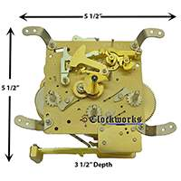 350-020 Hermle clock movement