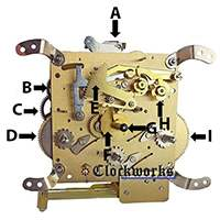 Hermle Clock Parts 341 front diagram