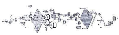 Hermle clock movement exploded view