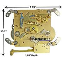 341-021 Hermle clock movement