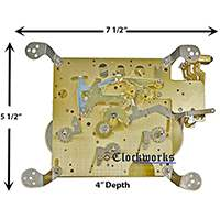 351-031 Hermle clock movement