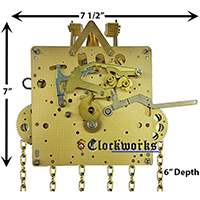 The 451-050 Hermle Clock Movement