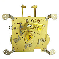 Spring driven clock movement