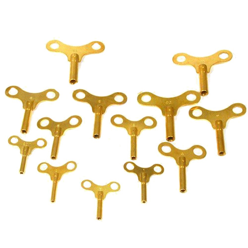 NEW Steel Double End Clock Key Choose From 10 Sizes! Swiss SIzes