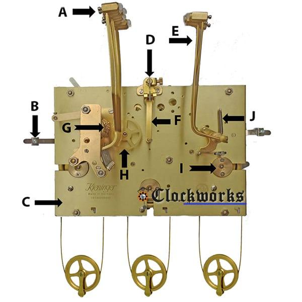 Hermle Clock Movement Parts Clockworks