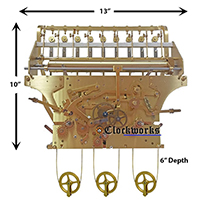 Kieninger 9 Tube Clock Movement