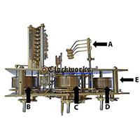 Kieninger Clock Parts KSU back diagram