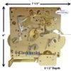 1051-020 Hermle Clock Movement