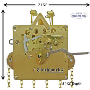 NEW 461-053 Clock Movement by Hermle - Clockworks : Clockworks