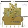 1151-053 Hermle Clock Movement