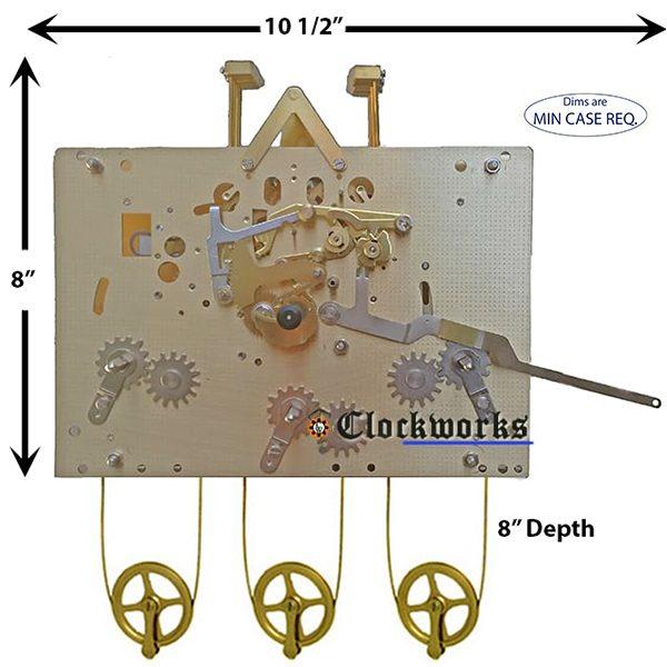 1161-853 Hermle Clock Movement