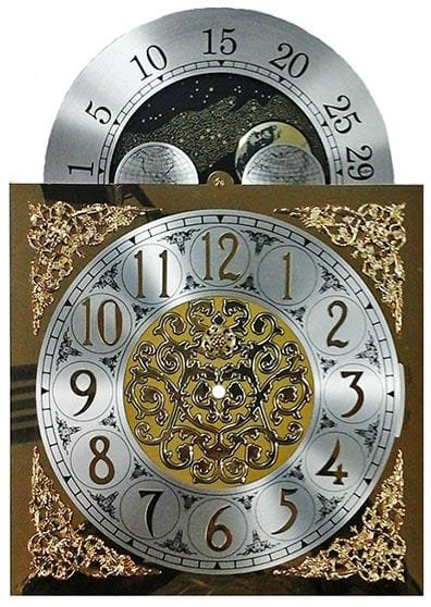 11 x 15.5 Clock Moon Dial for 451-053 Hermle
