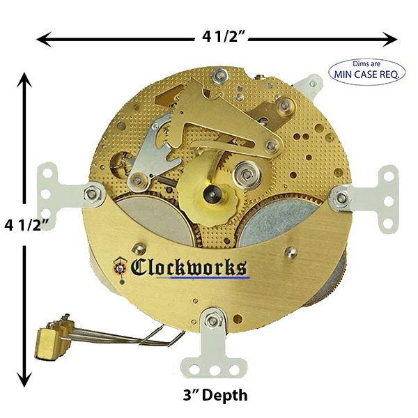 130-020 Hermle Clock Movement