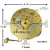 130-627 Hermle Clock Movement