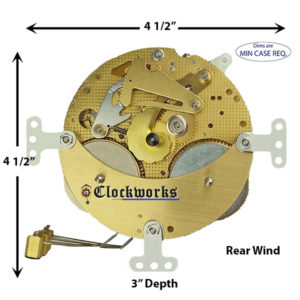 130-627 Hermle Clock Movement