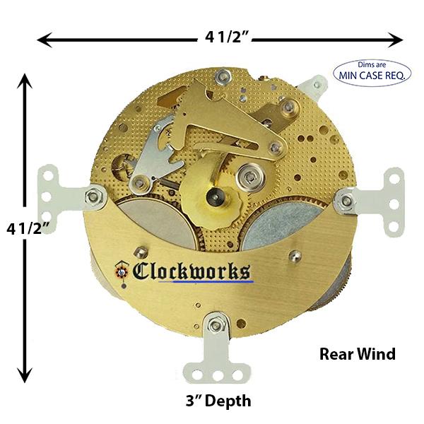 130-678 Hermle Clock Movement