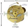 131-080 Hermle Clock Movement