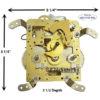 Hermle clock movement 140-070 clockworks.com