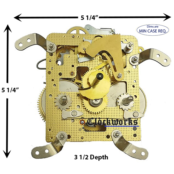 Hermle clock movement 140-070 clockworks.com