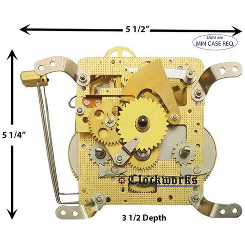 141-030K Hermle Clock Movement