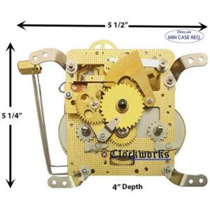 141-033K Hermle Clock Movement