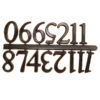 Sticky Arabic Clock Numerals