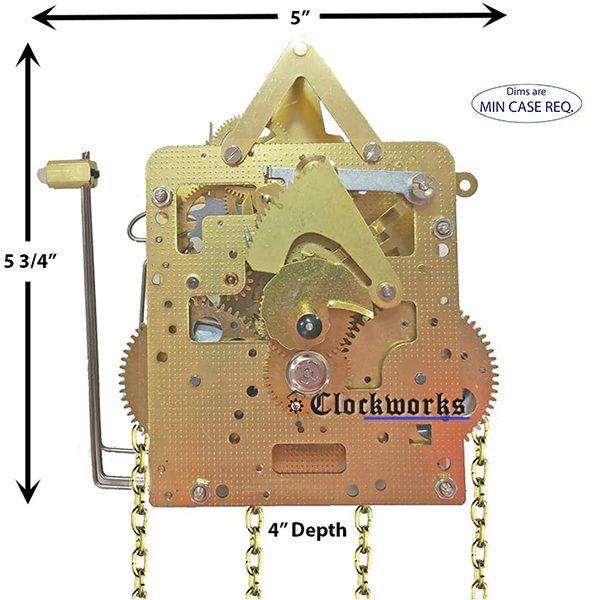 241-030 Hermle Clock Movement