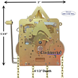 241-033 Hermle Clock Movement