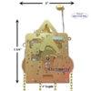 271-053 Hermle Clock Movement