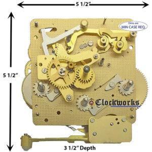 341-020K Hermle Clock Movement