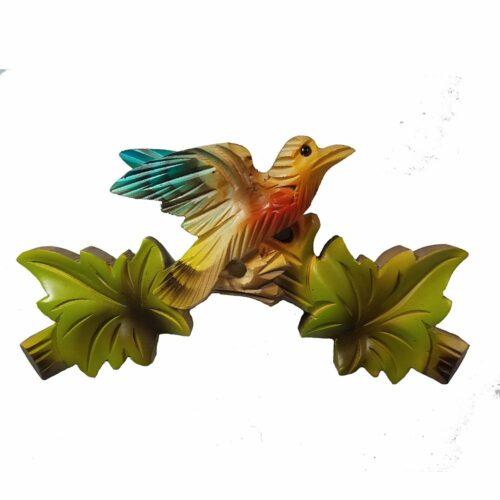 Air Brush Cuckoo Clock Wooden Bird Top