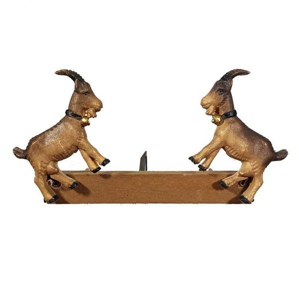 Animated Cuckoo Clock Figurine of Goats Jumping